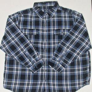 Vintage Faded Glory Men's L/S Cotton Flannel 3XL